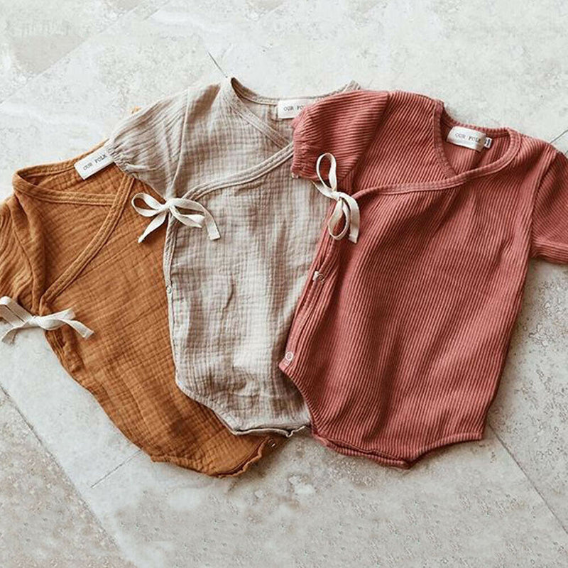 Solid Color Short Sleeve Onesie
