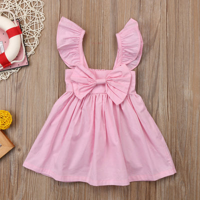 Ruched Sleeveless Bow Dress - The Childrens Firm
