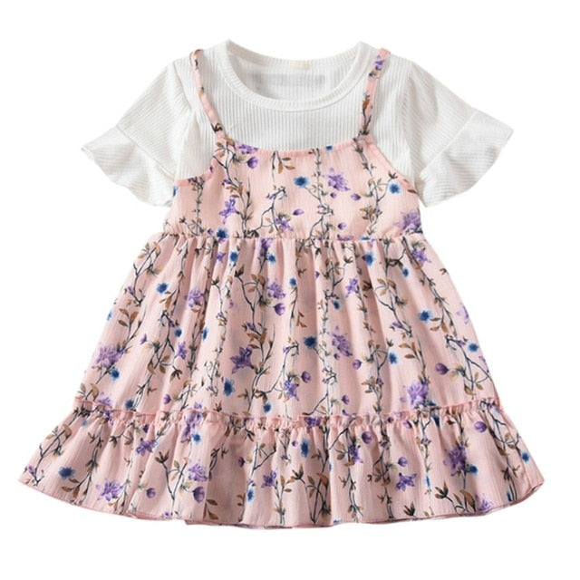Floral Cami Tshirt Dress - The Childrens Firm
