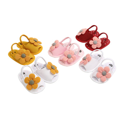 Floral Canvas Sandals - The Childrens Firm
