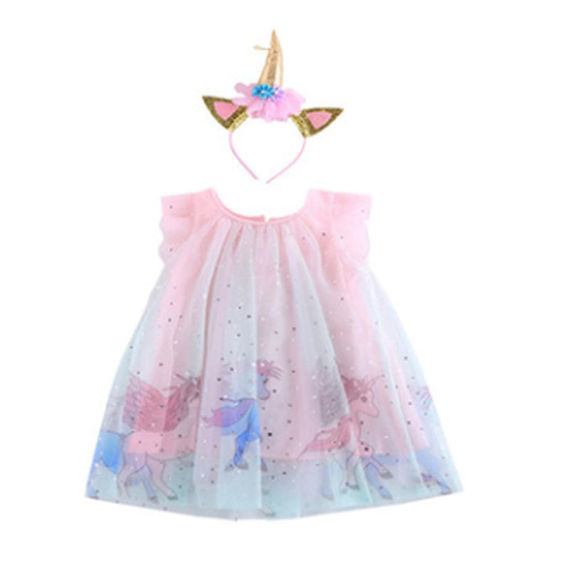 Lace Unicorn Dress - The Childrens Firm