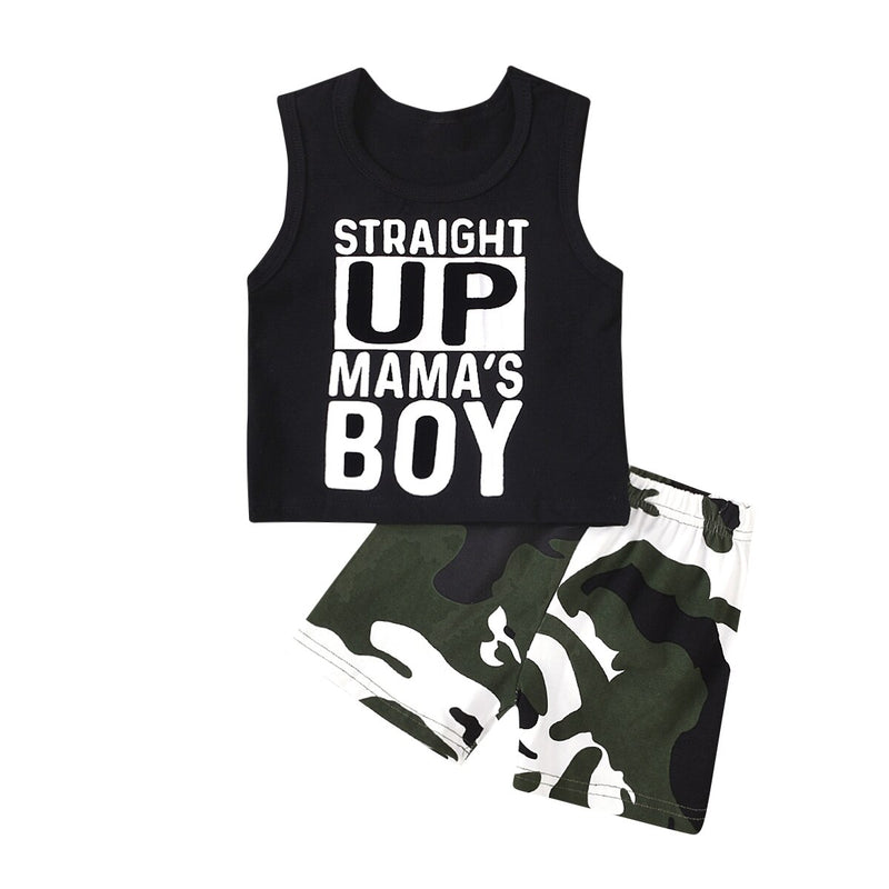 Straight Up Mam's Boy Camo Set - The Childrens Firm