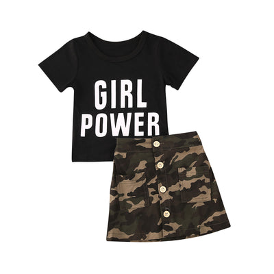 Girl Power Camo Skirt Set - The Childrens Firm