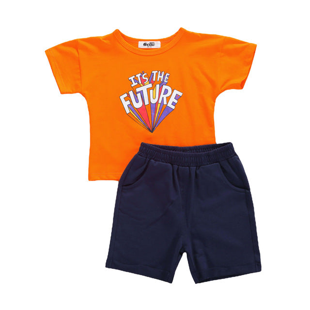 """The Future"" Shorts Set - The Childrens Firm"