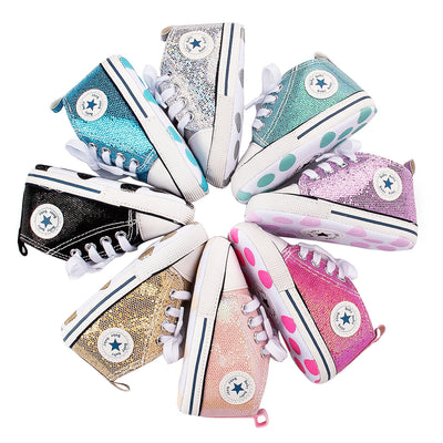 Glitter Baby 1 Star Sneakers - The Childrens Firm