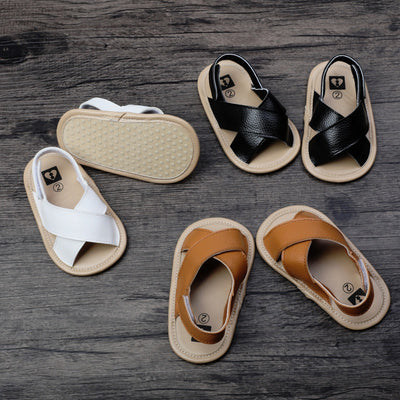 Patent Cross Sandals - The Childrens Firm