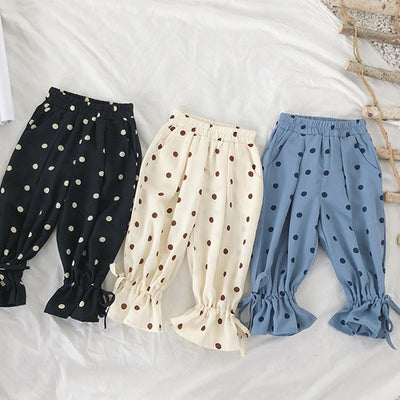 Polka DOT Ruffle Harem Pants - The Childrens Firm