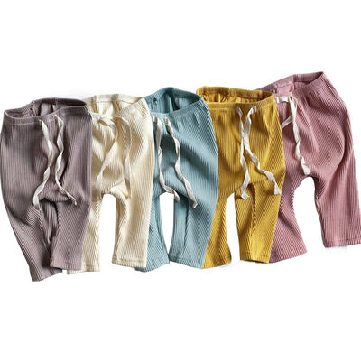 Ribbed Cotton Harem Pants - The Childrens Firm