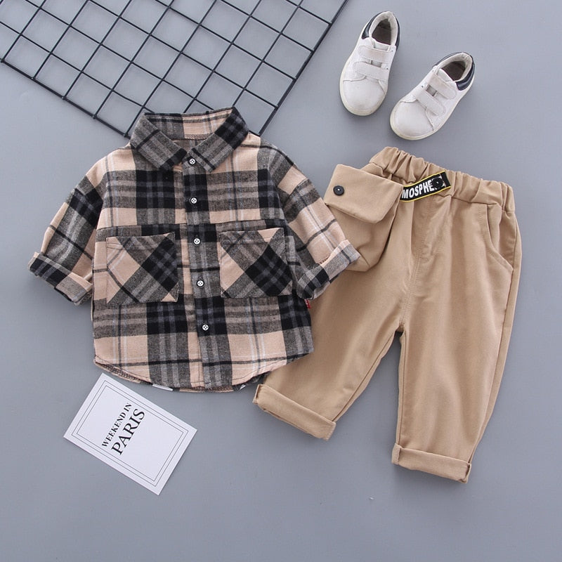 Khaki Flannel Set
