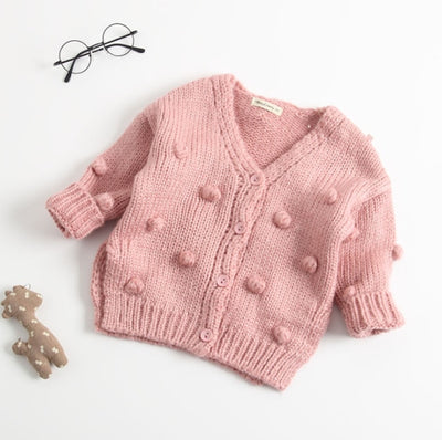 Fuzzy Ball Cardigan - The Childrens Firm