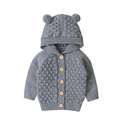 Hooded Knitted Sweater - The Childrens Firm