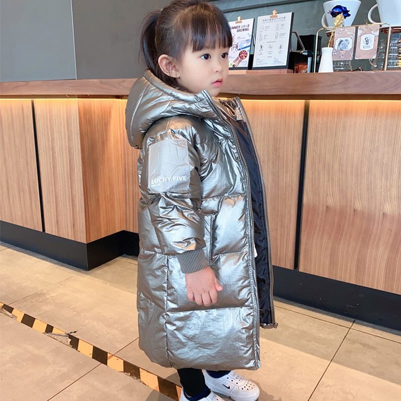 Toddler Lux Hooded Long Outer Coat