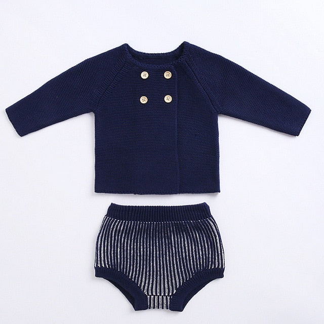 Knitted Striped Set