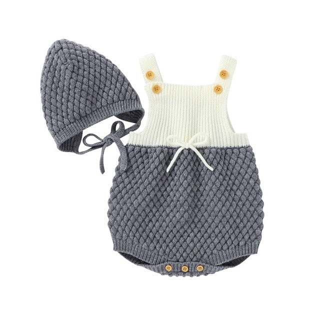Soft Knitted Overall Romper