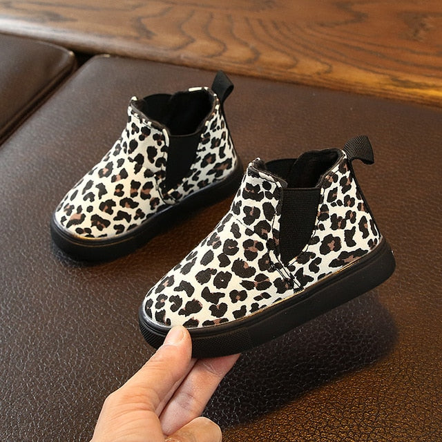Leopard Ankle Snow Boots