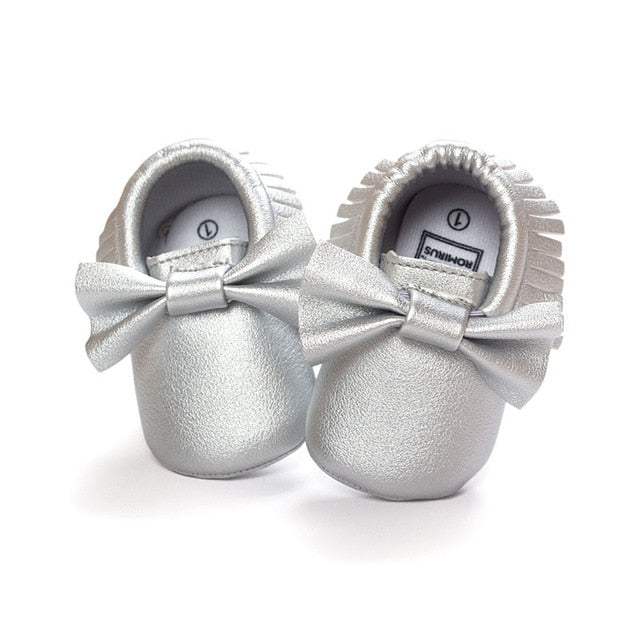 Baby Faux Leather Moccasins