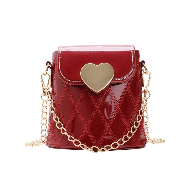 Heart Pouch Chained Purse