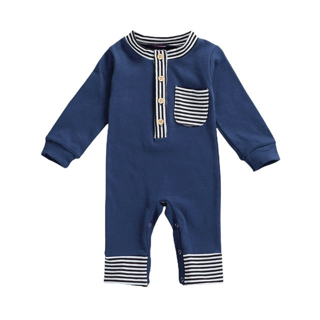 Infant Striped Jumpsuit