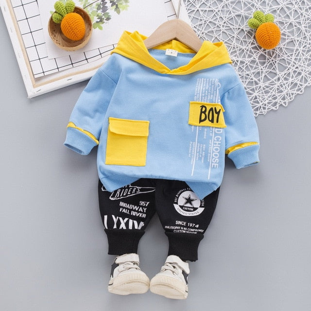 Boy Hooded Printed Set