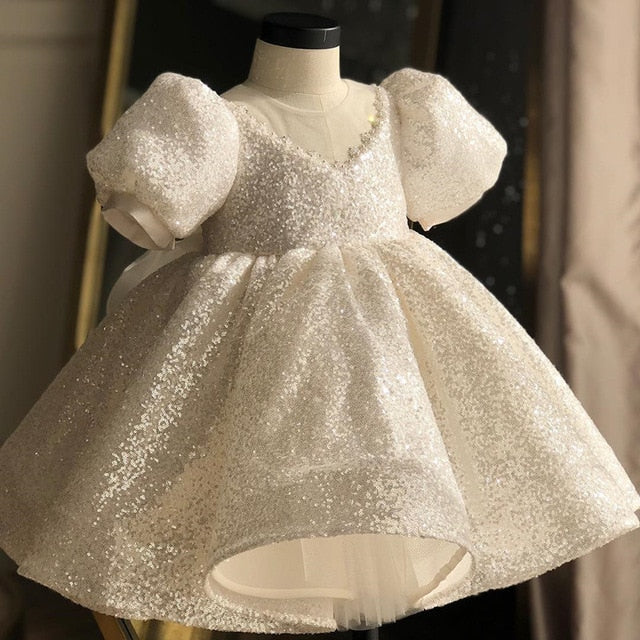 Sequins White Special Event Dress