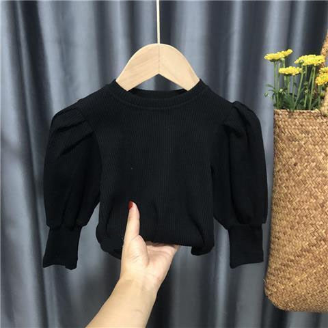 Long Sleeve Ribbed Blouse