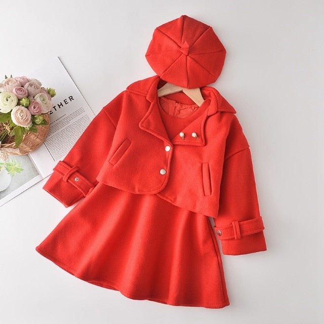 Asiah Red 2 PCS Dress Set