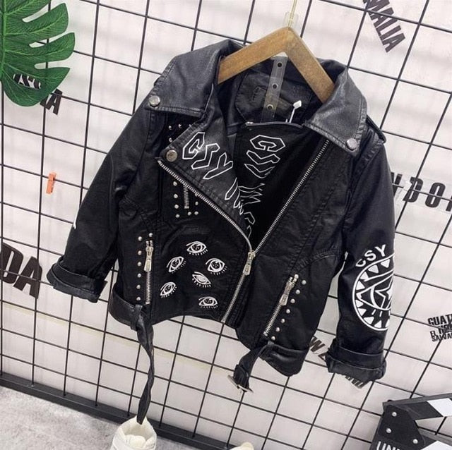 Rivet Motorcycle Leather Jacket