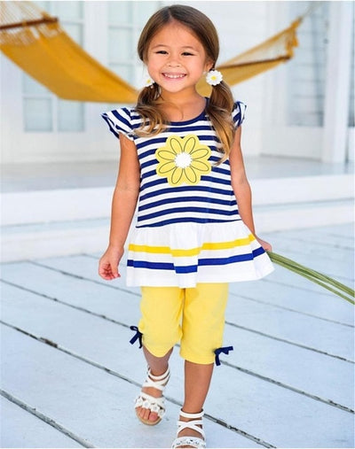 Yellow & Blue Flower Set - The Childrens Firm