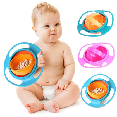 Universal Gyro Bowl 360 Rotate Spill-Proof Baby Feeding Dish - The Childrens Firm