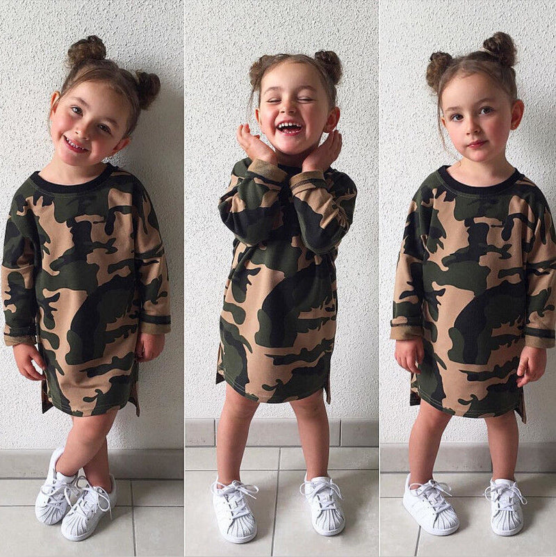 Camouflage Tunic Shirt Dress - The Childrens Firm