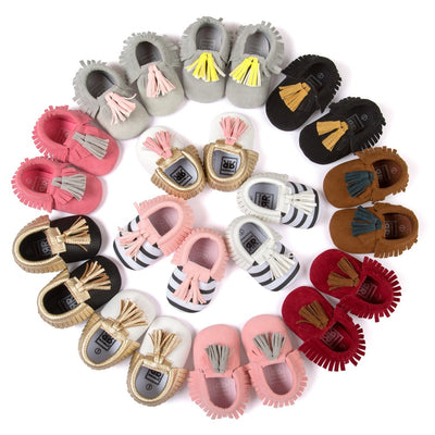 Tasseled Lovely Moccasins - The Childrens Firm