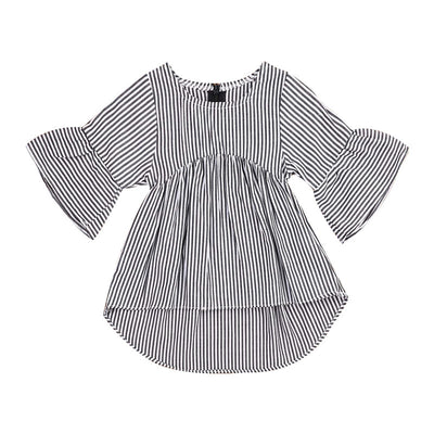 Lovely Girls Ruffles Long Sleeve Striped Blouse - The Childrens Firm