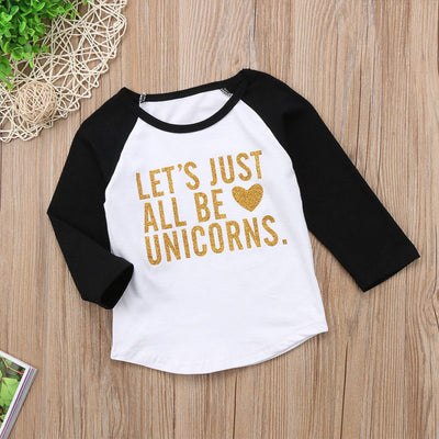 Let's Just All Be Unicorns Tee - The Childrens Firm
