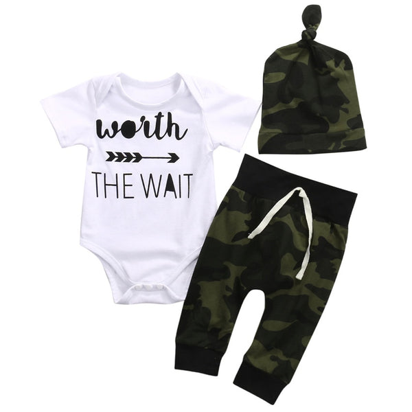 Camo Worth The Wait Set - The Childrens Firm