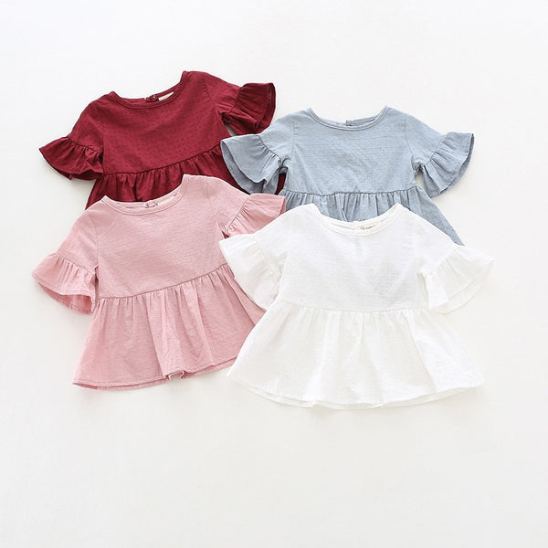 Lotus Leaf Sleeve Baby T Shirts - The Childrens Firm