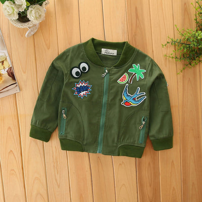 Military Patchwork Jacket - The Childrens Firm