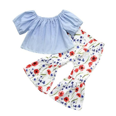 Red White & Blue Floral Set - The Childrens Firm