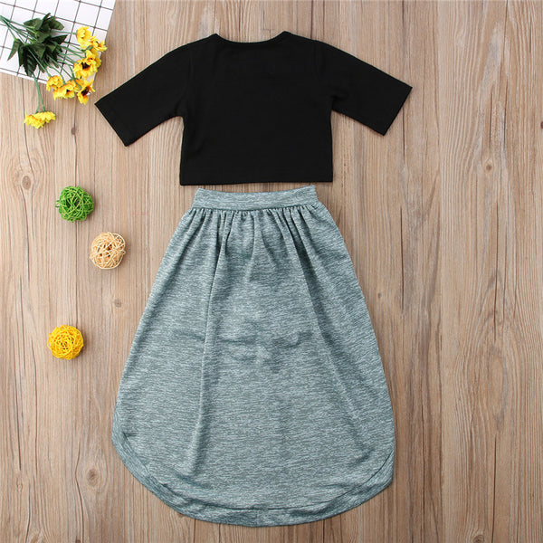 Trendy Toddler Half sleeve 2pc Set - The Childrens Firm