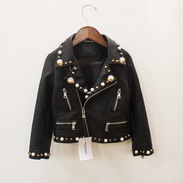 Pearl Leather Jacket - The Childrens Firm
