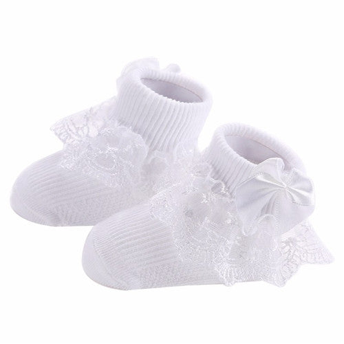 Bow Lace Baby Socks - The Childrens Firm