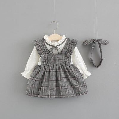 Long Sleeve Gray Dreams Dress - The Childrens Firm