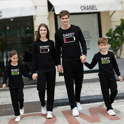 Battery Print Family Matching Shirts - The Childrens Firm