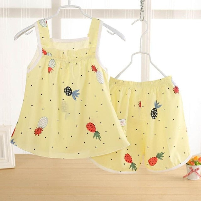 Cute Summer Printed 2PC Sets - The Childrens Firm