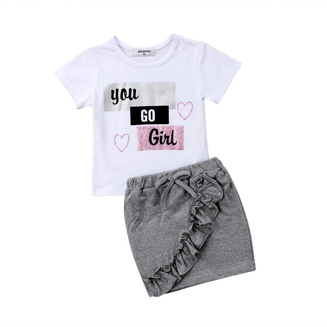 You Go Girl Ruffle Skirt Outfit - The Childrens Firm
