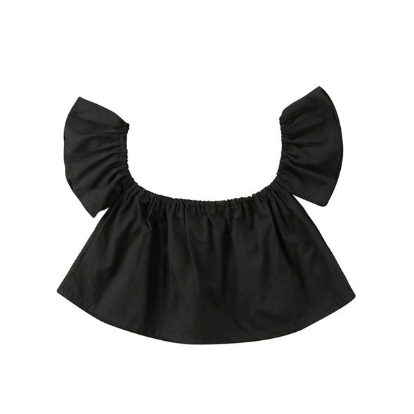 Princess Ruffle Off Shoulder Baby Blouse - The Childrens Firm