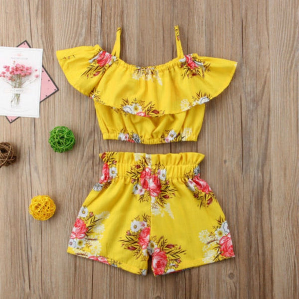 Floral Off Shoulder 2 Piece Set - The Childrens Firm