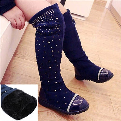 Diamonds Galore High-Leg Boots - The Childrens Firm