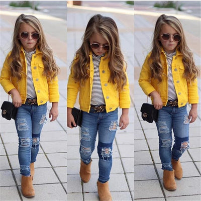 Yellow Denim Jacket - The Childrens Firm