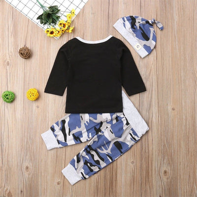 Teal Camo 3pcs Set - The Childrens Firm