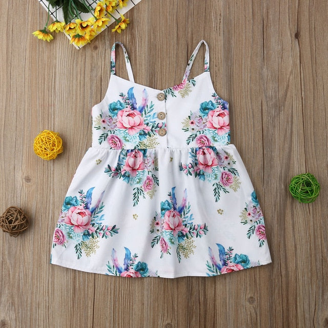 Scattered Floral Dress - The Childrens Firm